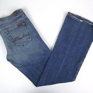 7 For All Mankind Bootcut Low Rise Womens Jeans